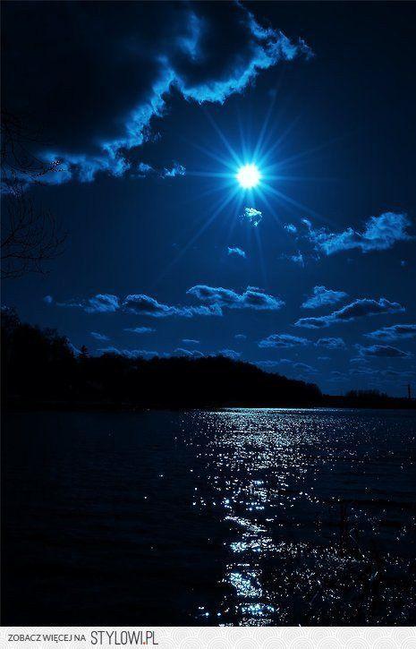 A  blue, blue night! ♥