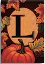 Fall Pumpkin Monogram K Decorative Garden Flag by Carson. $7.99. Monogrammed and readable from both sides. Specially treated to be fade and weather resistant. Constructed of high-quality nylon fabric. This fall, welcome everyone to the 'K' family homestead with this autumn themed monogram decorative garden flag.  Beautifully decorated in fall colors, this decorative flag features falling leaves and a bright pumpkin bordering your family 'K' monogram.  Readable from ...