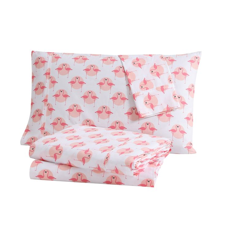Flamingo Printed Tropical Sheet Set by Clairebella - TRL-STS-FULL-IN-74