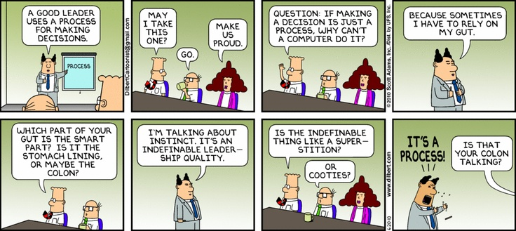 Dilbert The Decision Making Process Humour Dilbert