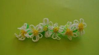 Ромашка Браслет весенние цветы Rainbow Loom Macro Daisy Flower Tutorial https://youtu.be/5bE4nes0PeI Посмотрев этот урок, вы узнаете, как сделать ромашки из резинок Rainbow Loom Bands. Ромашки, которые вы сделаете, можно использовать в качестве кольца, украшения для карандашей или ручек, а также их можно использовать и для плетения браслетов из Rainbow Loom.  Если вам понравился мой урок про Ромашки, ставьте лайк, делитесь с друзьями в соцсетях и оставьте свое мнение в комментариях :)