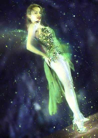 Kylie Minogue as the Green Fairy in Moulin Rouge. I'd like to dress up as this for Halloween but then everybody would probably think I'm Tinkerbell