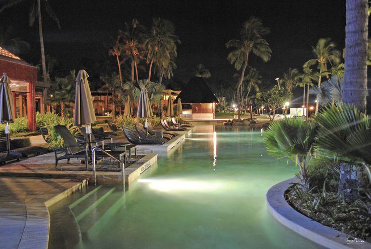 Lagoon Pool - Sheraton Fiji Restaurant - Night Photography