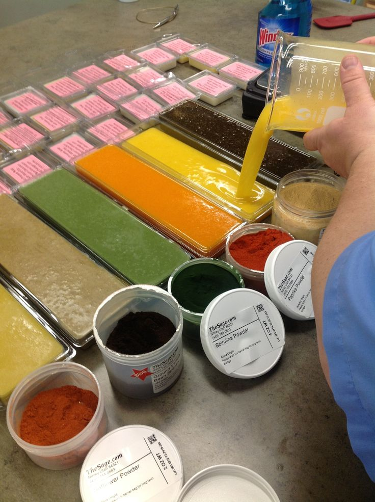 coloring cold process soap with dried herbs and orange peels