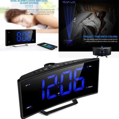MPOW Projection Alarm Clock FM Radio Alarms Digital Ceiling USB Charging Port US8  Type - Alarm Clock, Display Type - LED, Features - Alarm,