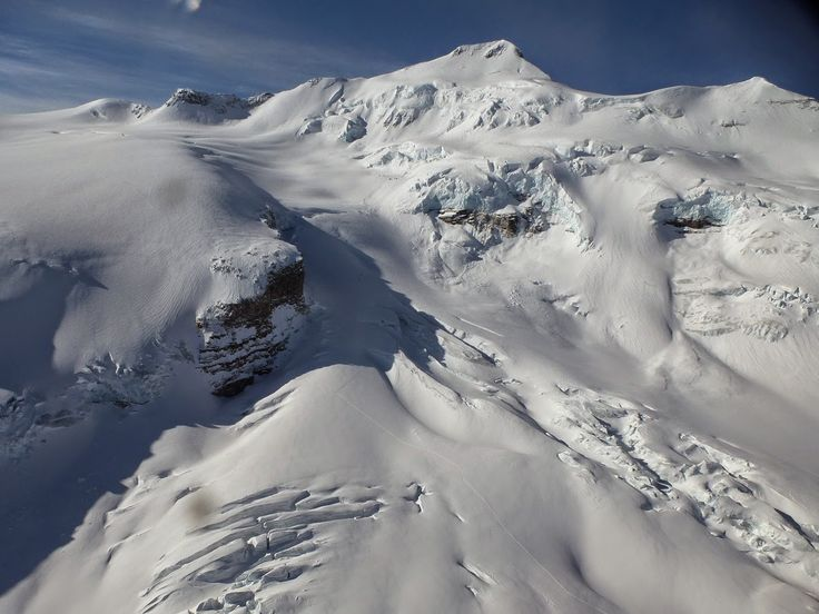 Balfour Glaciers - March 17, 2015 *** note ski track up the middle of the glacier
