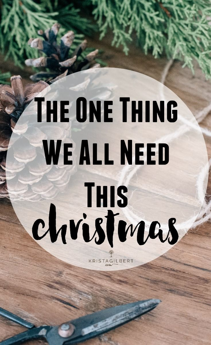 The One Thing We All Need This Christmas, (and you won't find it under a tree)