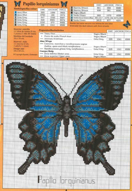 Cross-stitch Two Pretty Butterflies, part 2...    Gallery.ru / Фото #29 - бабочки - irisha-ira