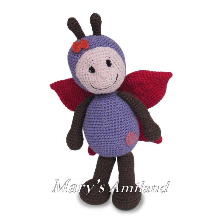 Clio Butterfly the Ami - Amigurumi Crochet Pattern | Craftsy