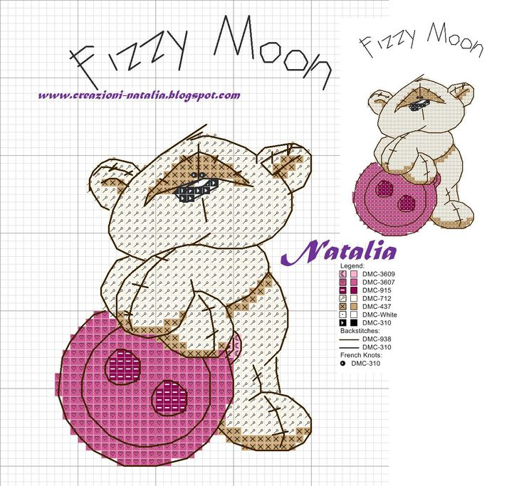 Fizzy Moon pink button