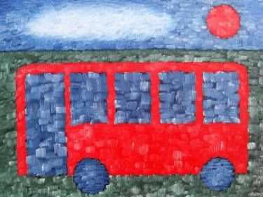THE BIG RED BUS I just added a new piece of #art to @SaatchiArt! http://www.saatchiart.com/art/Painting-THE-BIG-RED-BUS/4915/3297661/view?wmc=1143&utm_medium=social_media&utm_source=twitter&utm_campaign=1143&utm_content=art_upload_share #bus #transport #redbus #prints #paintings #impressionism #oils