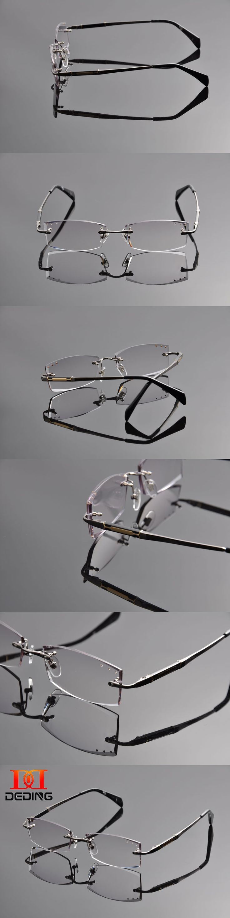 Deding Men Prescription Glasses Colored Lenses Male Colored Lenses Myopia Ready Glasses Diamond Trimming Eyeglasses DD1259