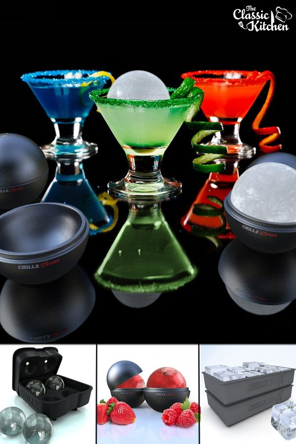 Add a touch of class to any drink with Chillz Ice Molds.