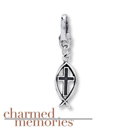 Kay - Charmed Memories Ichthys Dangle Charm Sterling Silver