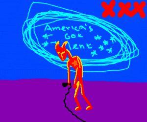 Satan fails at America's Got Talent