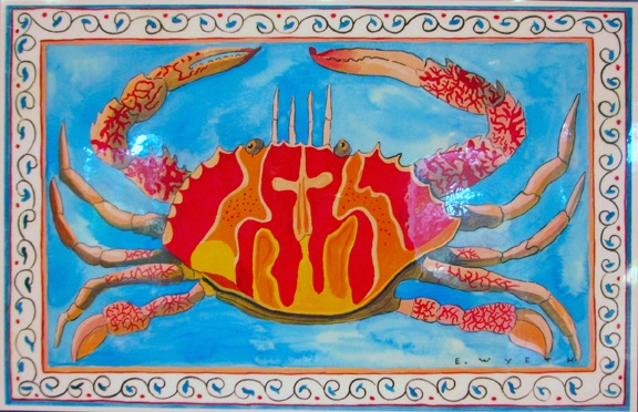 "Place mat by Ellie Wyeth - ""Red Crab"""