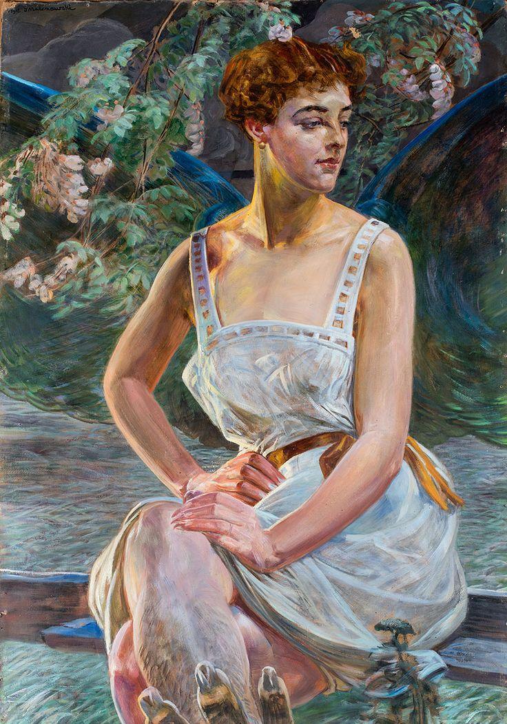 """The Prelude"" (1918) by Jacek Malczewski (Polish,1854 - 1929), oil on canvas, 98 x 69 cm.    [source]"