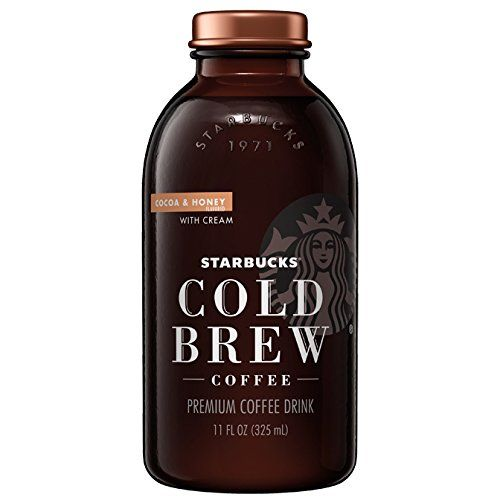 Starbucks Cold Brew Coffee Cocoa & Honey with Cream 11 oz Glass Bottles 6 Count