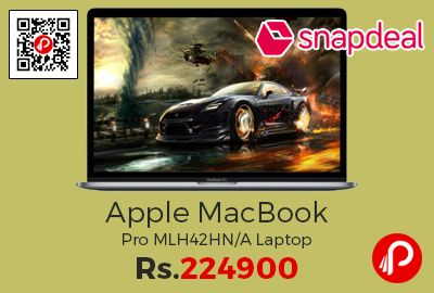 Snapdeal is offering 7% off on Apple MacBook Pro MLH42HN/A Laptop at Rs.224900 Only. 1 Year Warranty Period, Gaming Usage, 2880×1800 (QWXGA+) Resolution, Space Grey Colour, Backlit Keyboard, Intel Core i7, 512GB SSD, 16GB RAM, 38.1cm(15) Screen, Mac OS X Sierra, 2GB Graphics Display.  http://www.paisebachaoindia.com/apple-macbook-pro-mlh42hna-laptop-at-rs-224900-only-snapdeal/