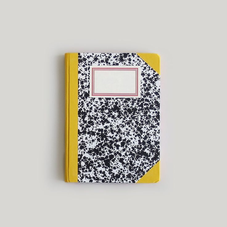 Emilio Braga Black Cloud Print Notebook - Yellow and Black