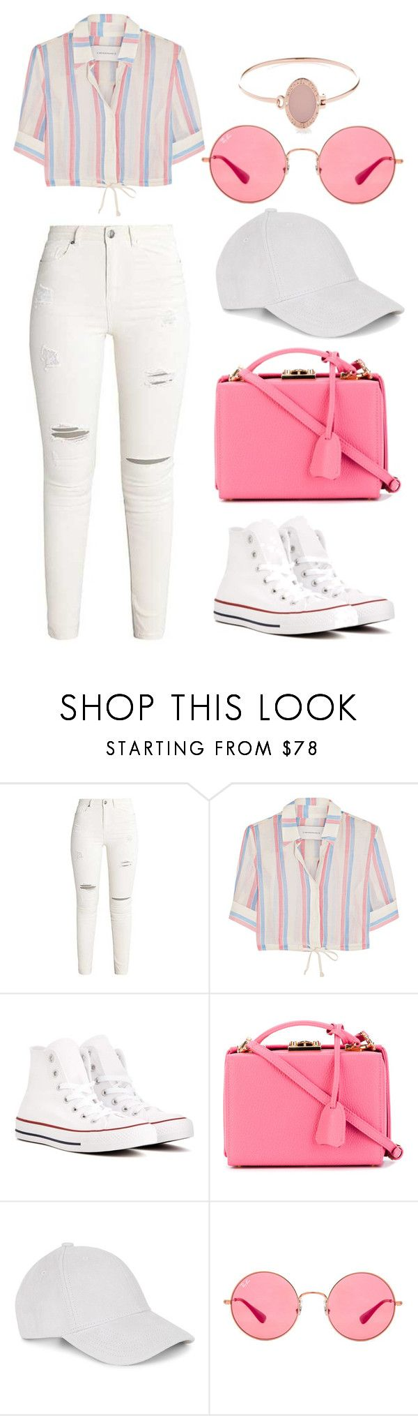"""Untitled #185"" by alibasicelma on Polyvore featuring Solid & Striped, Converse, Mark Cross, Ray-Ban and Michael Kors"