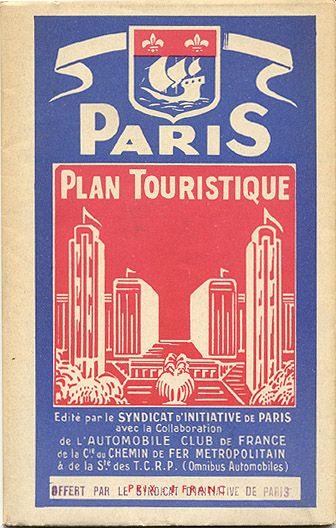 201 best exposition internationale paris 1937 images on for Paris carte touristique