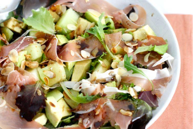 Salade meloen en ham – SKINNY SIX