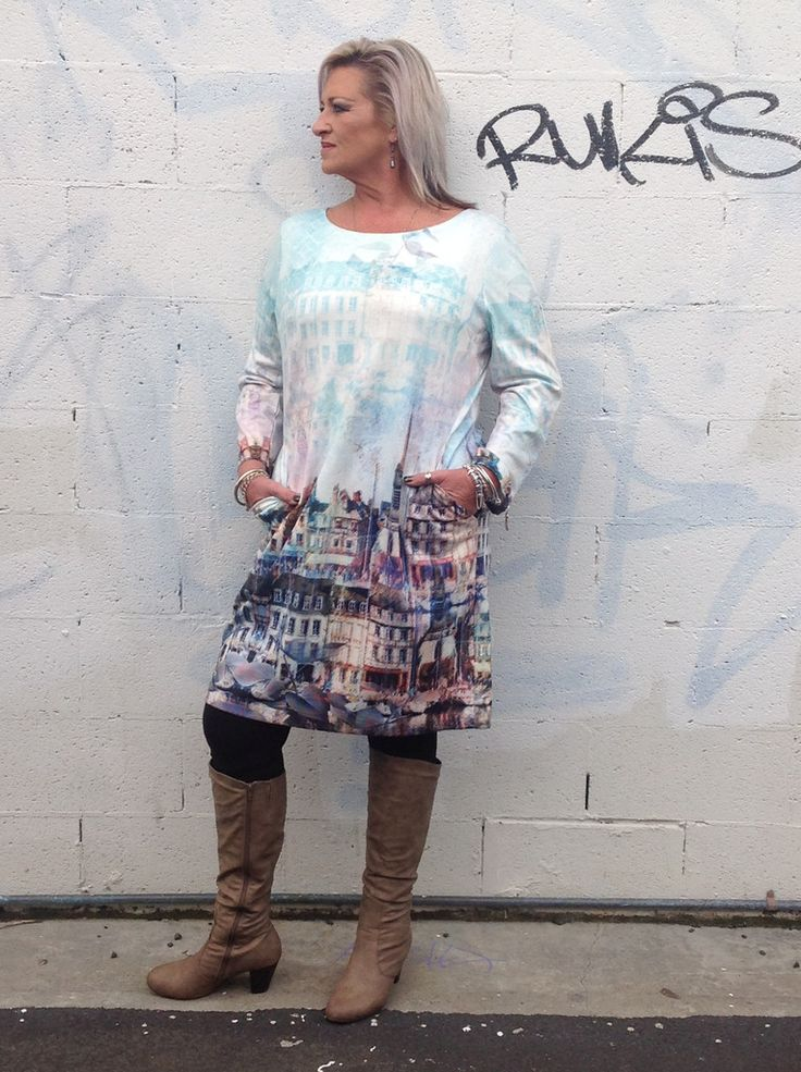 European  print inspired winter dress