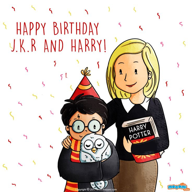 Happy birthday Harry Potter and J.K. Rowling! July 31st By Mocomi Kids