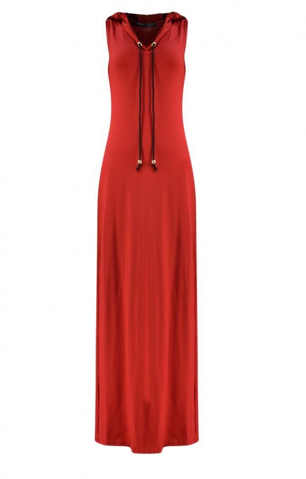 Γυναικείο φόρεμα μακρύ με κουκούλα | Φορέματα - Φορέματα 2016 -