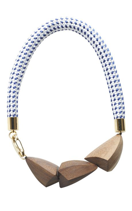 Grey And Natural Legno Wood Necklace by Marni for Preorder on Moda Operandi