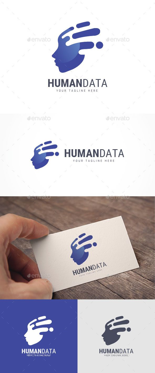 Human Data Logo by Jue_ArtDesign FEATURES : Logos are vector based built in Illustrator software. They are fully editable and scalable without losing resolution.
