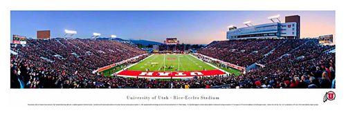 Utah Utes Football End Zone Game Night Panoramic Poster - Blakeway 2011