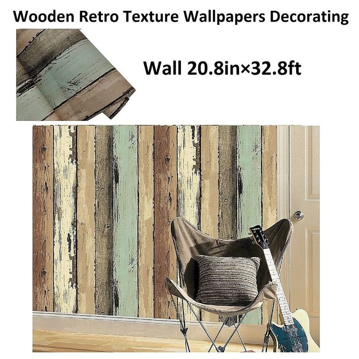 Rustic Design Wood Plank Wallpaper Roll, Faux Wooden Retro Texture Wallpapers #YOTOHOME #VintageRetro