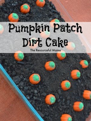 Pumpkin Patch Dirt Cake quick and easy fall dessert, great for fall gatherings, parties, and potlucks