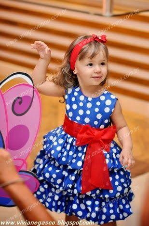 Vestido da Galinha Pintadinha para meninas de 1 a 6 anos
