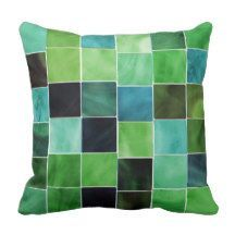 Shades of Green Decorative Modern Throw Pillow  accent your bedroom or living room with bold, cute and trendy accent pillows.  You can find vivid solid colors and combine them with some funky, abstract pattern or print.  Either way these throw pillows can give your home that much needed pop of color for that couch, bed or chair.  You can use these as starting points for home decoration inspiration.