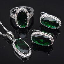 Newst Verde Piedra Estampado de Circón 925 Pendientes de Plata de La Joyería/Colgante/Collar/Anillos de Envío gratis JS0450(China (Mainland))
