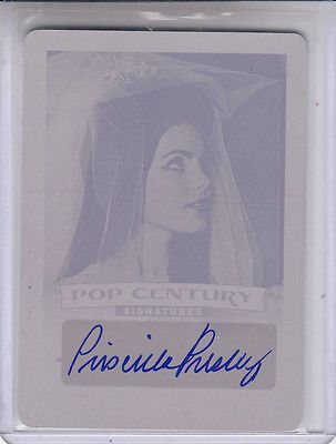 Other Sports Trading Cards 217: 2014 Leaf Pop Century Priscilla Presley Printing Plate 1 Autograph Auto -> BUY IT NOW ONLY: $99.99 on eBay!