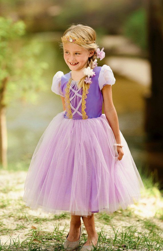 Rapunzel Wedding Gown Disney Princess Child Toddler Tangled Bride Dress Costume
