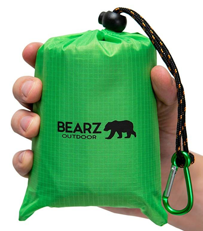 Waterproof Camping BEARZ Outdoor Beach Blanket//Compact Pocket Blanket 55″x60″