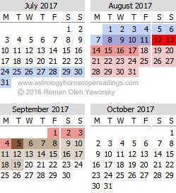 2017 Mercury Retrograde Calendar