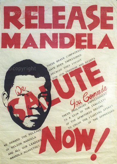 Johannesburg,colour image ,South Africa,Africa,vertical,poster,apartheid,protests,struggle,press,Transvaal (pre 1994),Nelson Mandela,