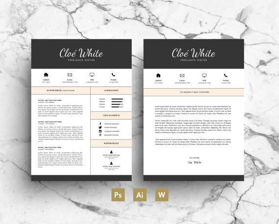Creative CV Template with Business Card & by ResumeDesignBooth