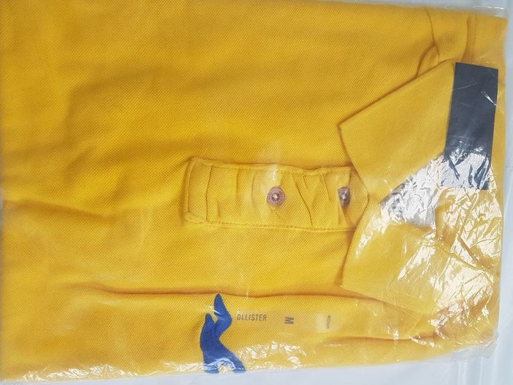 Mens' Hollister Polo Tshirt, Yellow, Brand New with Tags