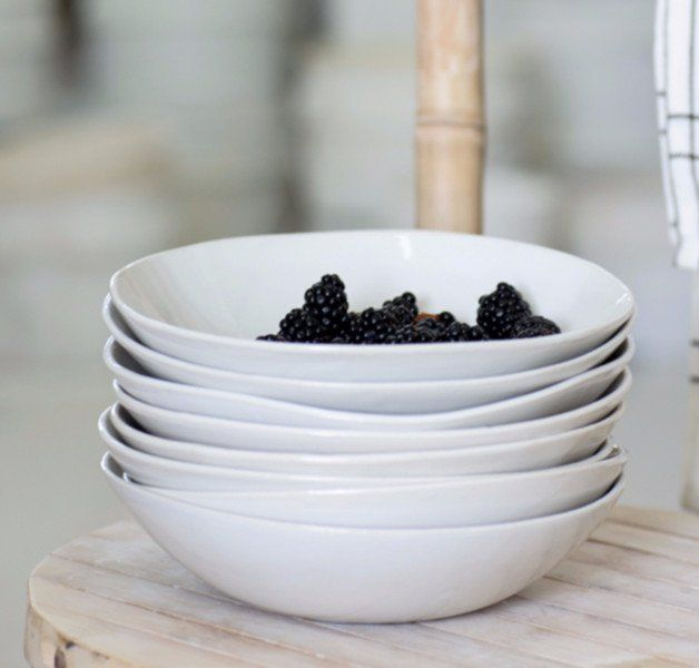 The bowls were designed by me, each bowl is uniquely hand-molded.  They have a…