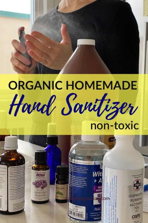 Organic Homemade Hand Sanitizer Spray Plant Based Non Toxic