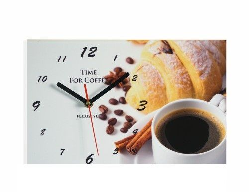 Dekorační nástěnné hodiny s kávou