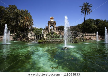 Font De La Cascada Fountain In Parc De La Ciutadella In Barcelona, Catalonia, Spain Stock Photo 111093833 : Shutterstock    worldwidephotoweb.com