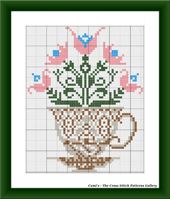 Coffee with flower aroma cross stitch by CamisTheCrossStitch